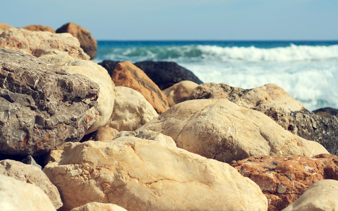 rocks beaches wallpaper