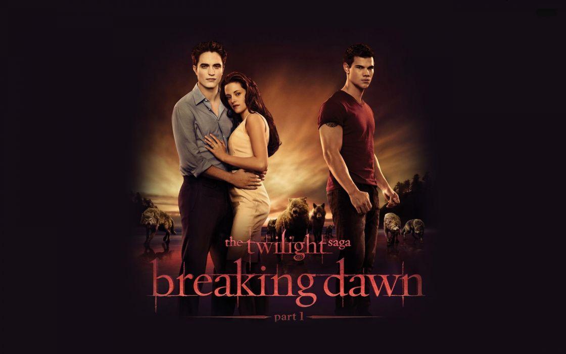 Kristen Stewart movies Twilight Robert Pattinson Taylor Lautner posters Edward Cullen Jacob Black Bella Swan Breaking Dawn wallpaper