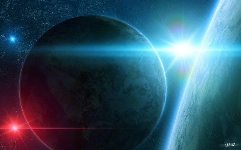 outer space planets digital art science fiction QAuZ wallpaper