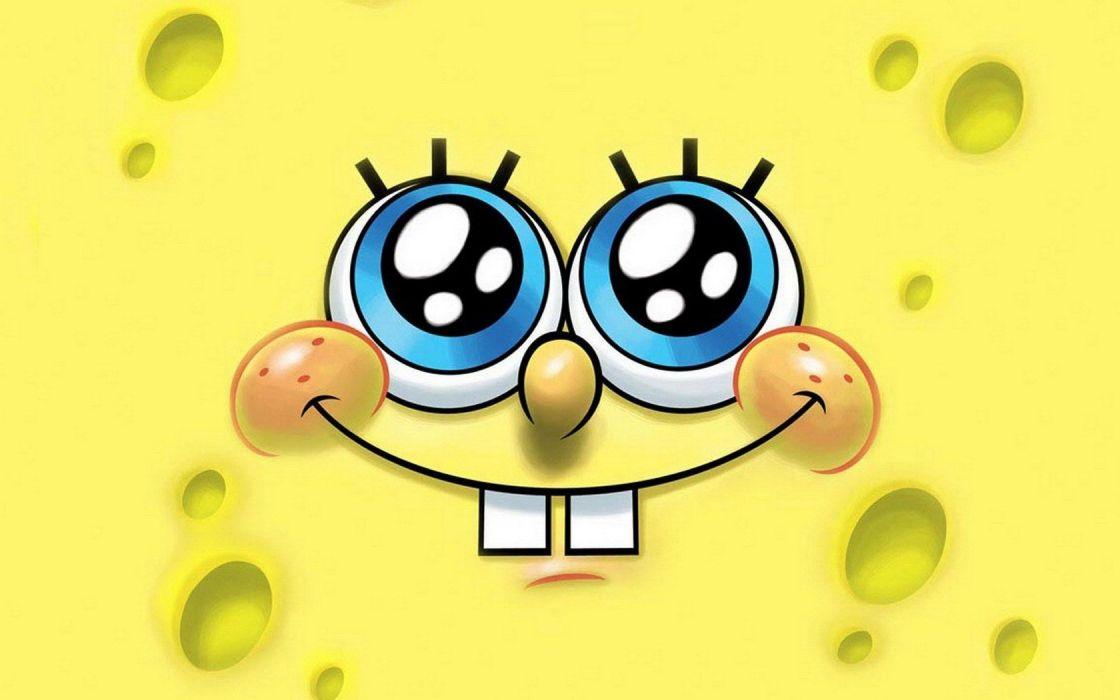 yellow SpongeBob SquarePants yellow background wallpaper