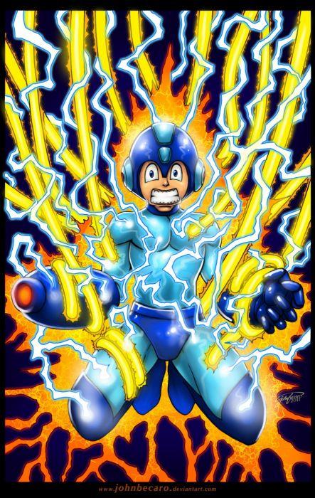 cartoons paintings comics digital Mega Man drawings fan art games wallpaper