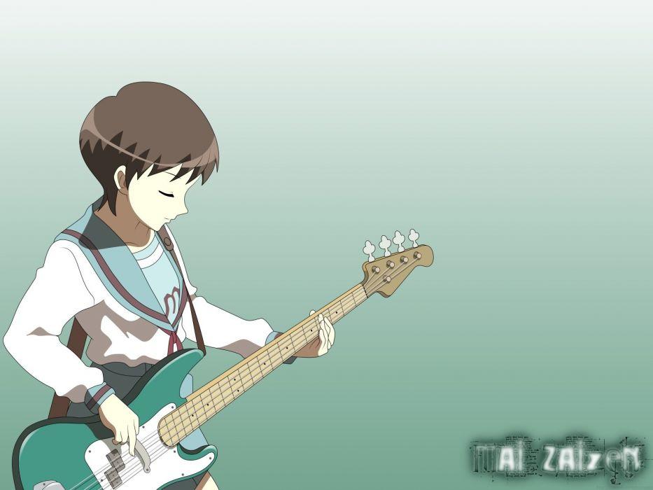 The Melancholy Of Haruhi Suzumiya Guitars Anime Girls P Bass