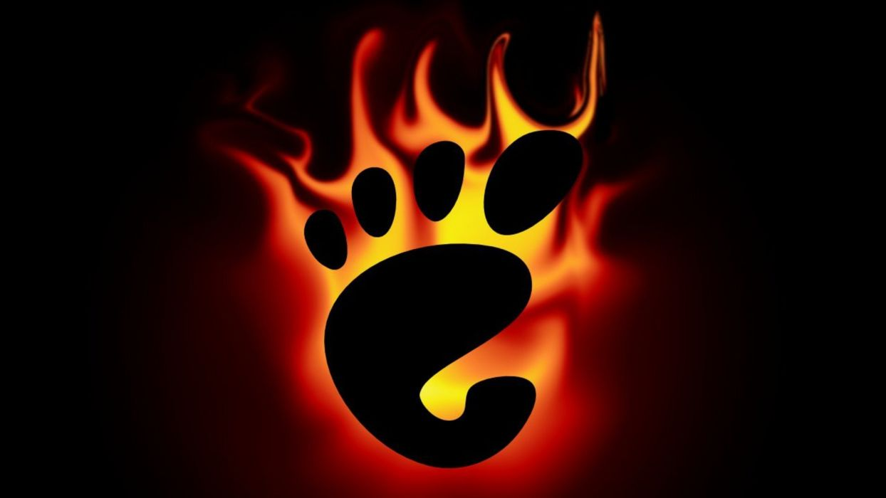 flames footprint wallpaper