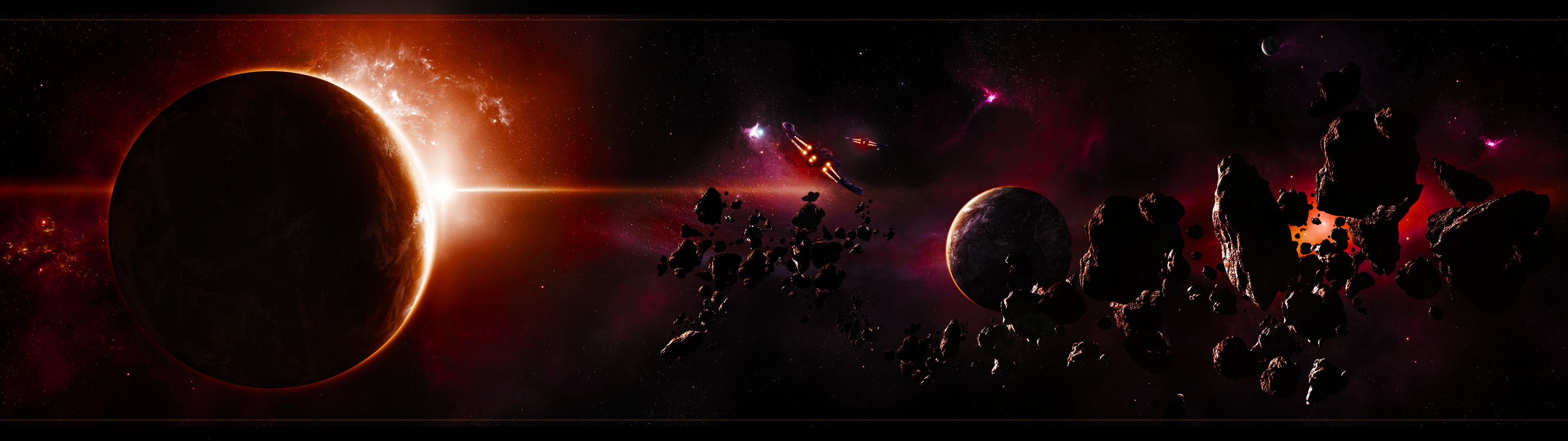 Space Wallpaper 3840x1080 Outer space planets wallpaper x WallpaperUP