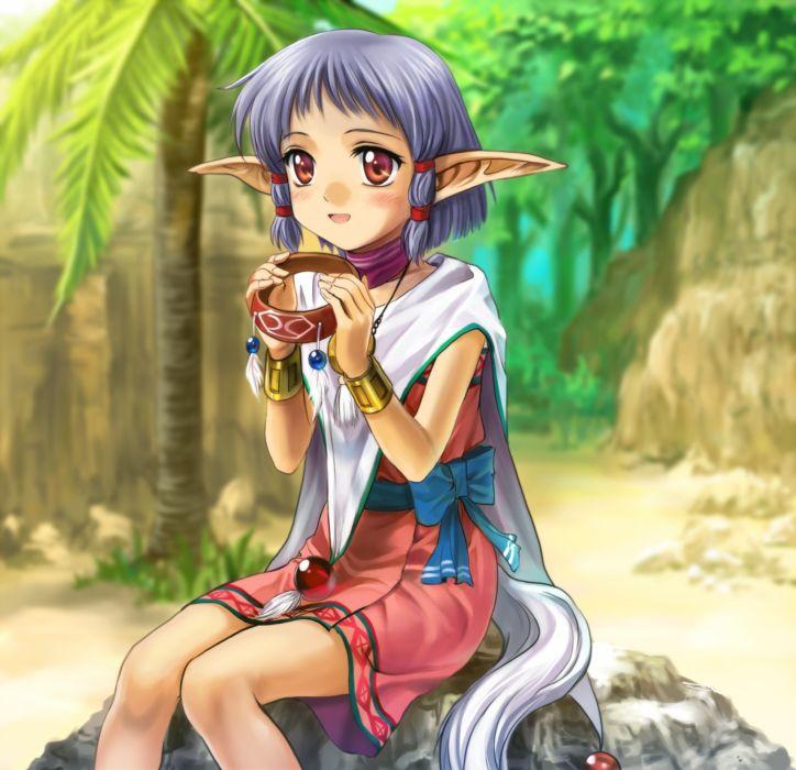 elves anime anime girls wallpaper