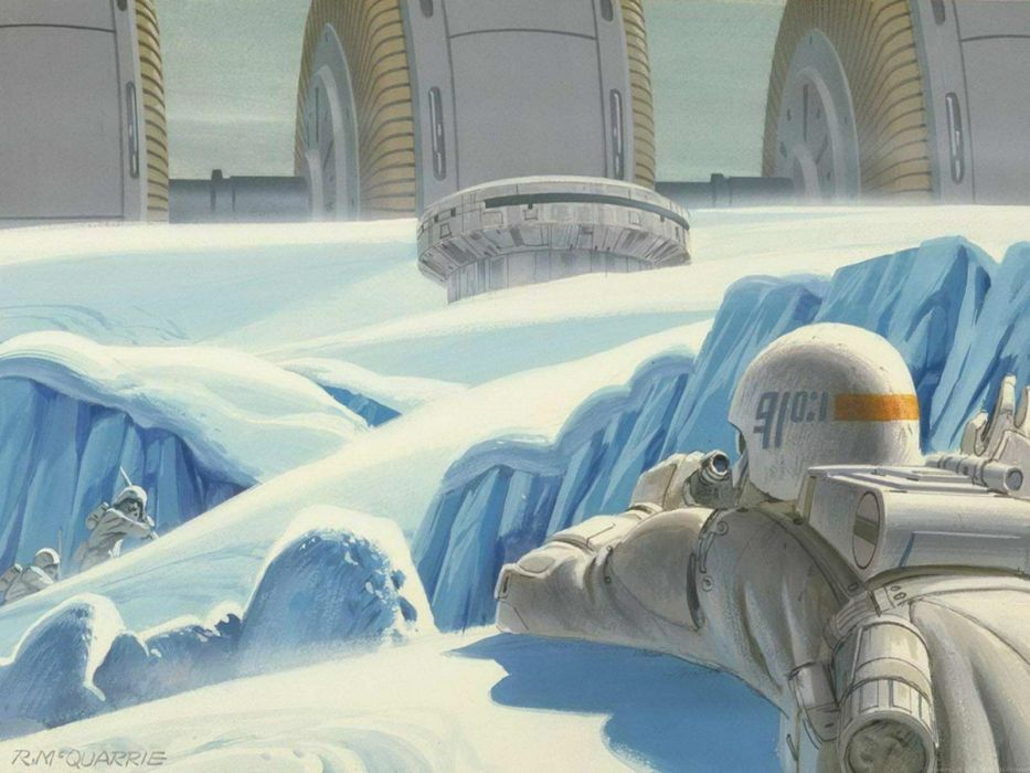 Star Wars Hoth concept art Ralph McQuarrie wallpaper