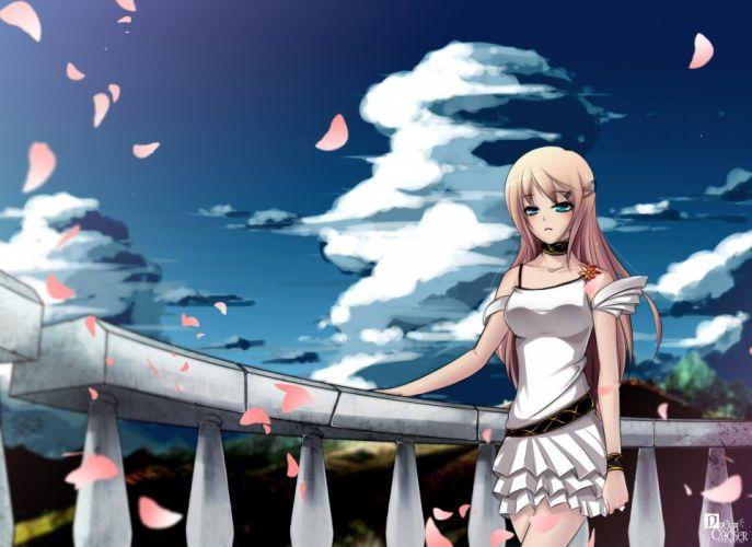 clouds anime anime girls wallpaper