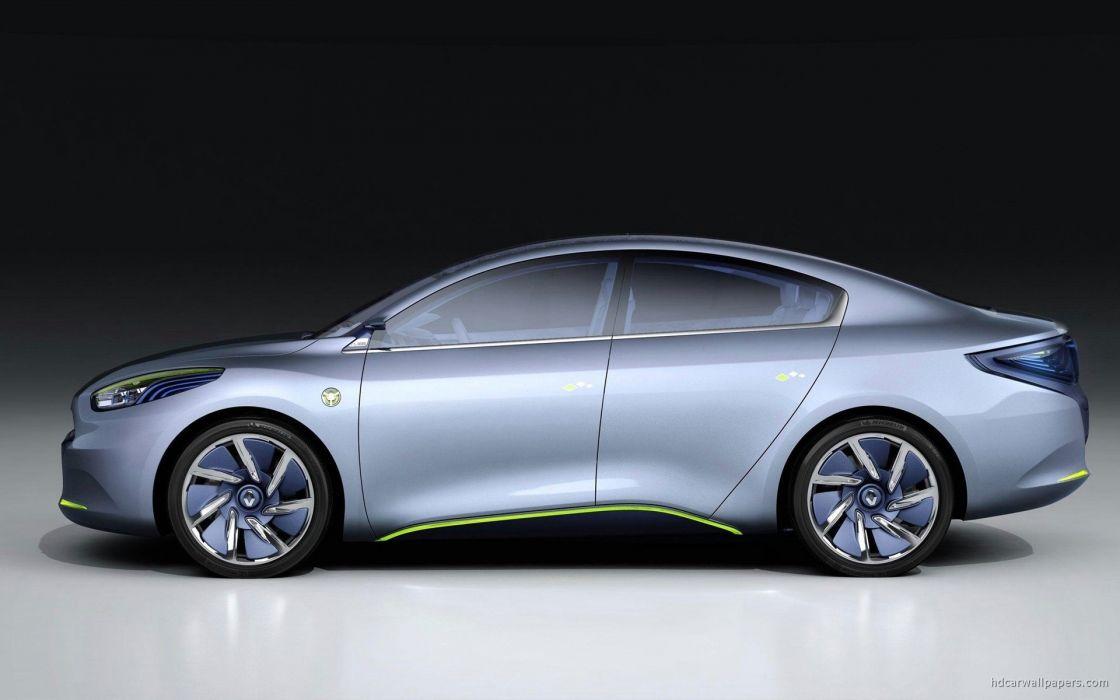 cars machines concept art vehicles Renault Renault Fluence wallpaper
