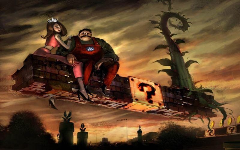Mario alternative art wallpaper
