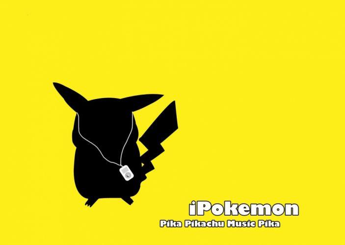 Pokemon Pikachu iPod simple background wallpaper