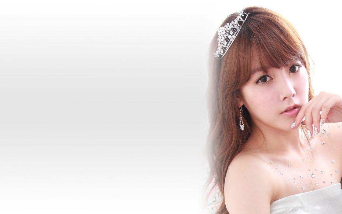 brunettes women models Asians Korean K-Pop T-ara Soyeon faces wallpaper