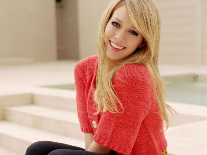 blondes women Hilary Duff celebrity smiling wallpaper