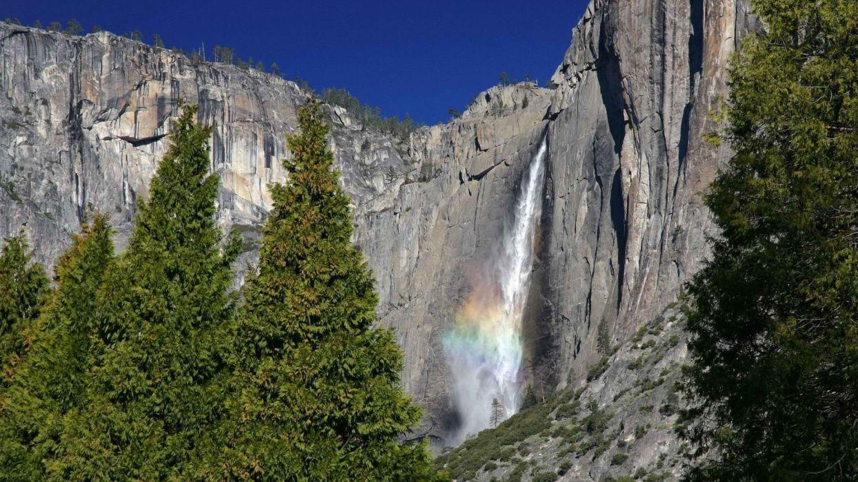 falls California National Park Yosemite National Park wallpaper
