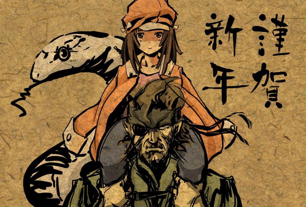 Metal Gear Solid Solid Snake Bakemonogatari Sengoku Nadeko anime girls Monogatari series wallpaper