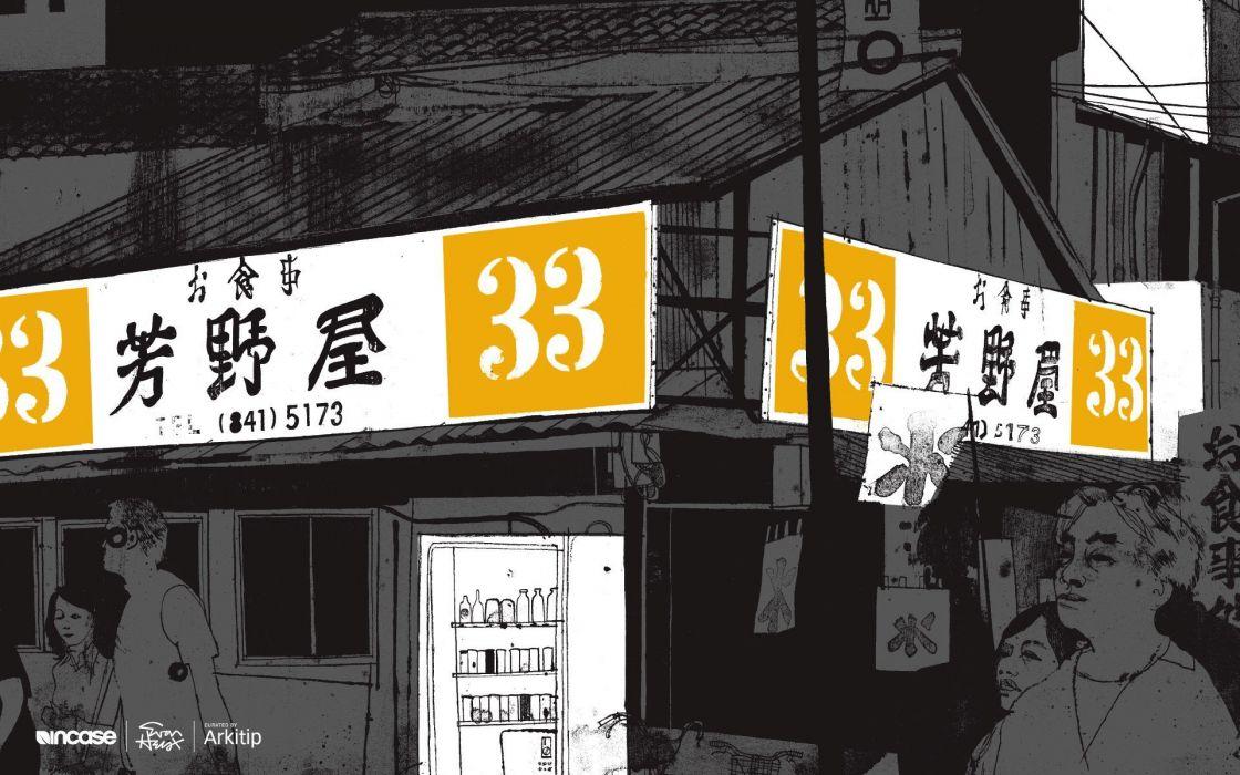 Japan Tokyo Incase Arkitip Evan Hecox wallpaper