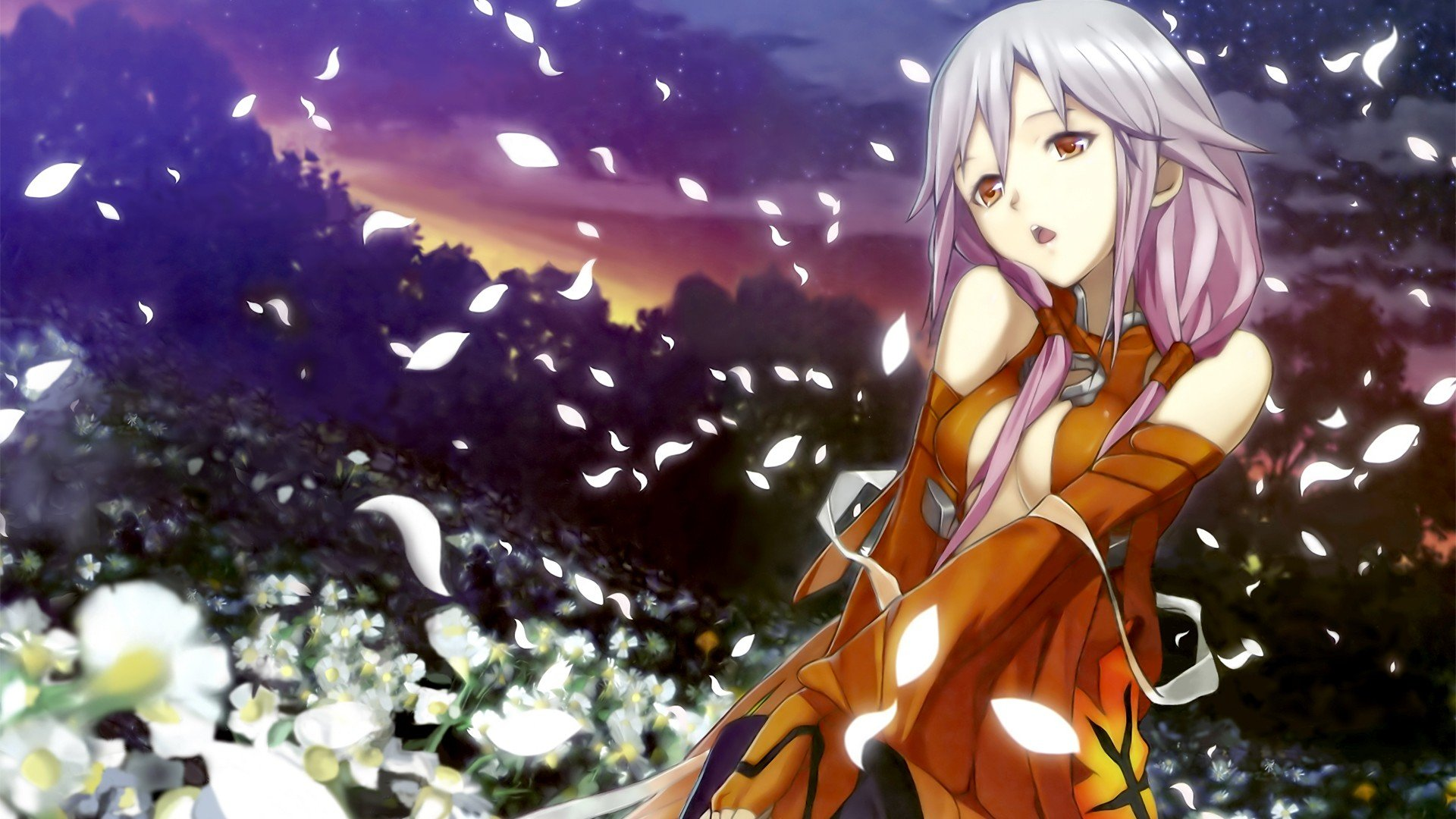 Flowers red eyes flower petals anime girls guilty crown yuzuriha flowers red eyes flower petals anime girls guilty crown yuzuriha inori wallpaper 1920x1080 328213 wallpaperup izmirmasajfo
