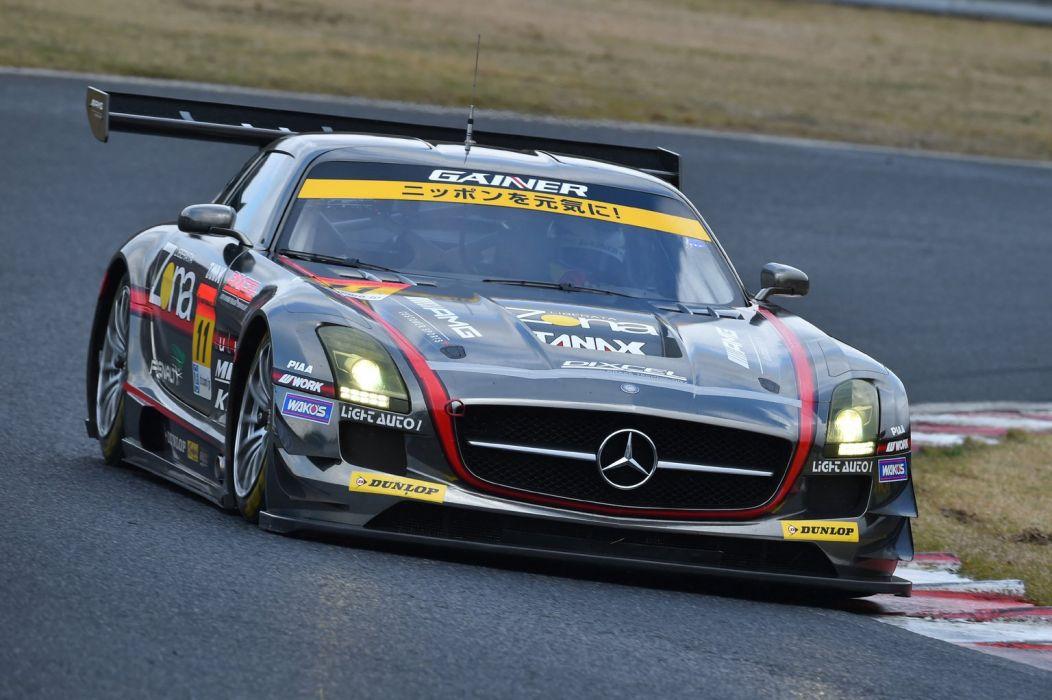 2014 SuperGT Season opener from Okayama Japan GAINER Rn-SPORTS SLS Mercedes-Benz SLS AMG GT3 wallpaper