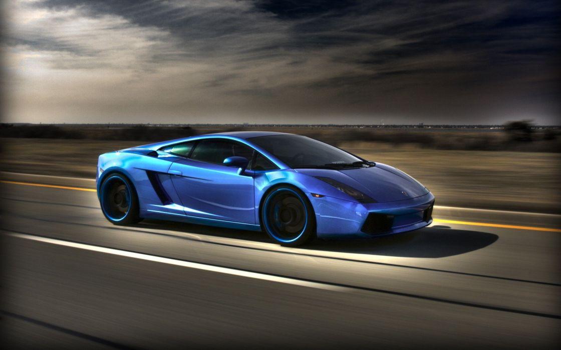 blue cars Lamborghini Lamborghini Gallardo wallpaper