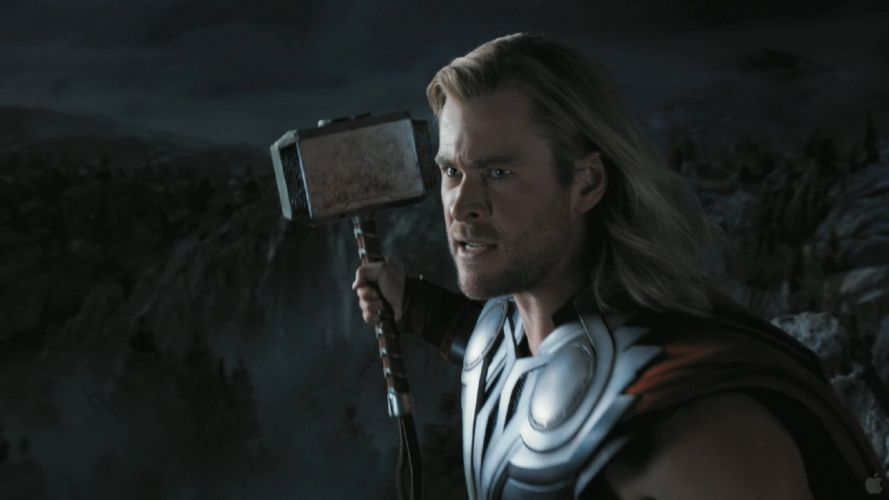 Thor hammer screenshots trailer Chris Hemsworth The Avengers (movie) Mjolnir wallpaper