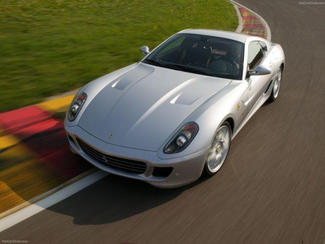 cars silver Ferrari 599 Ferrari 599 GTB Fiorano wallpaper