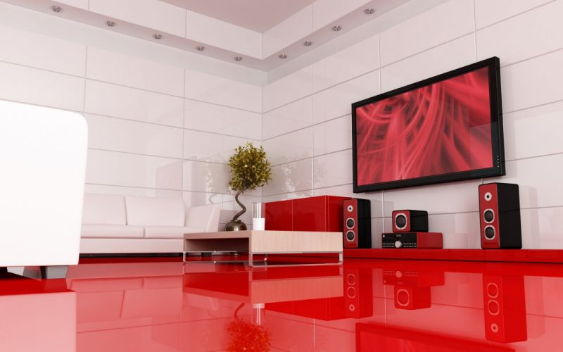 architecture room modern wallpaper