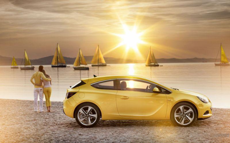 cars Opel sailboats Opel Astra GTC yellow cars wallpaper