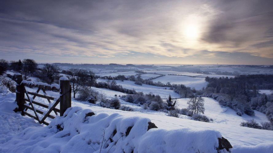 landscapes winter snow England wallpaper