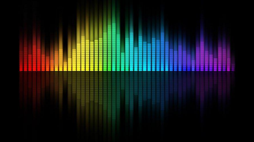 music multicolor rainbows graph equalizer black background bar graph wallpaper