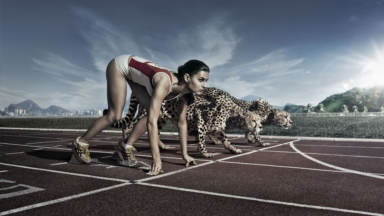 athletics photo manipulation wallpaper