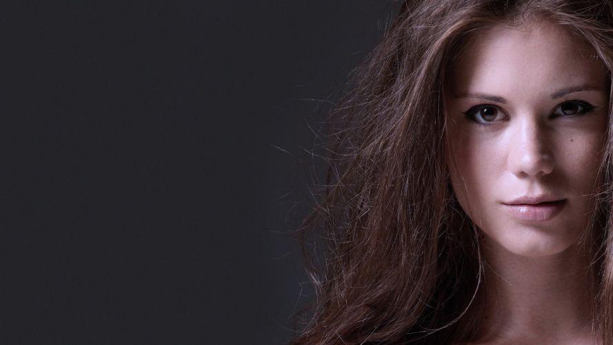brunettes women pornstars Little Caprice faces wallpaper