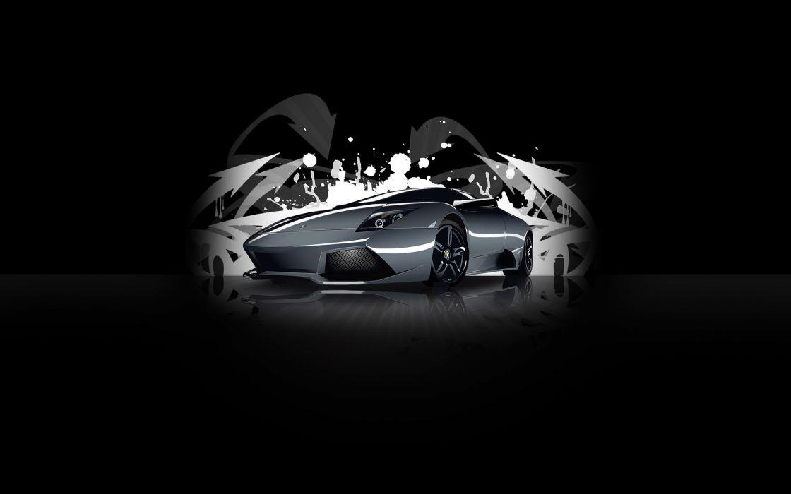 graffiti Lamborghini MurciAIA wallpaper