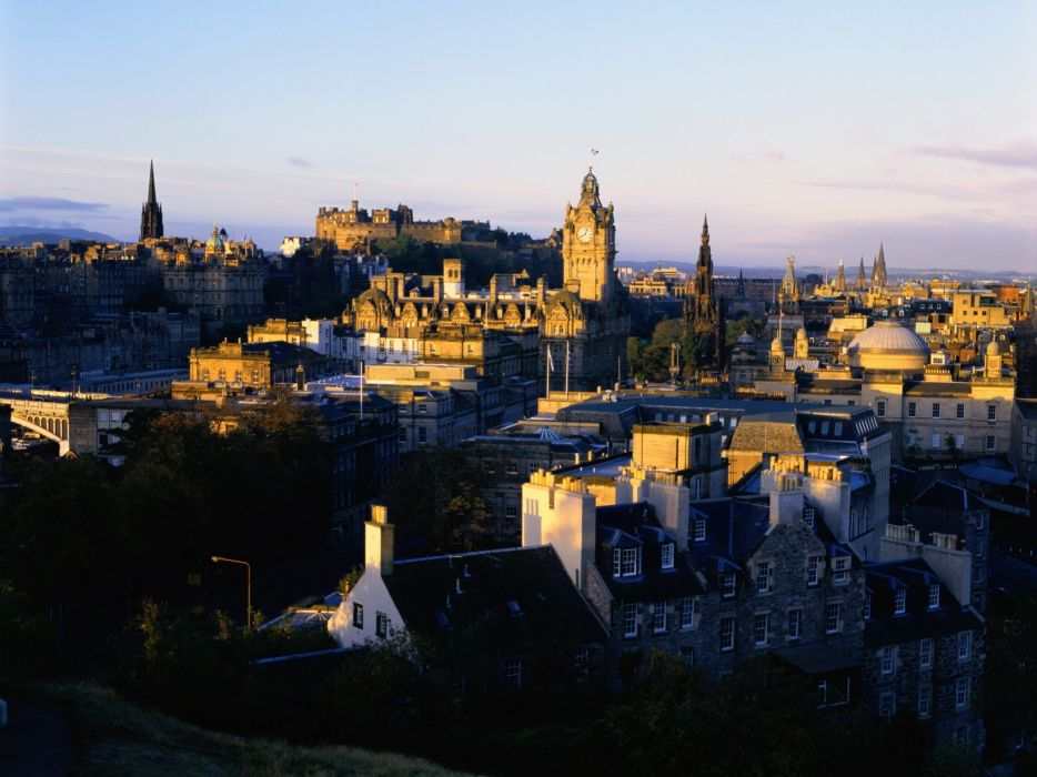 cityscapes Scotland Edinburgh wallpaper