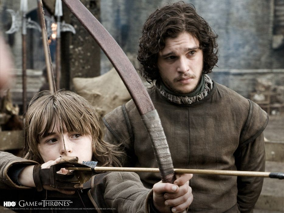 Game of Thrones A Song of Ice and Fire archery TV series Jon Snow Brandon Stark bow (weapon) House Stark wallpaper