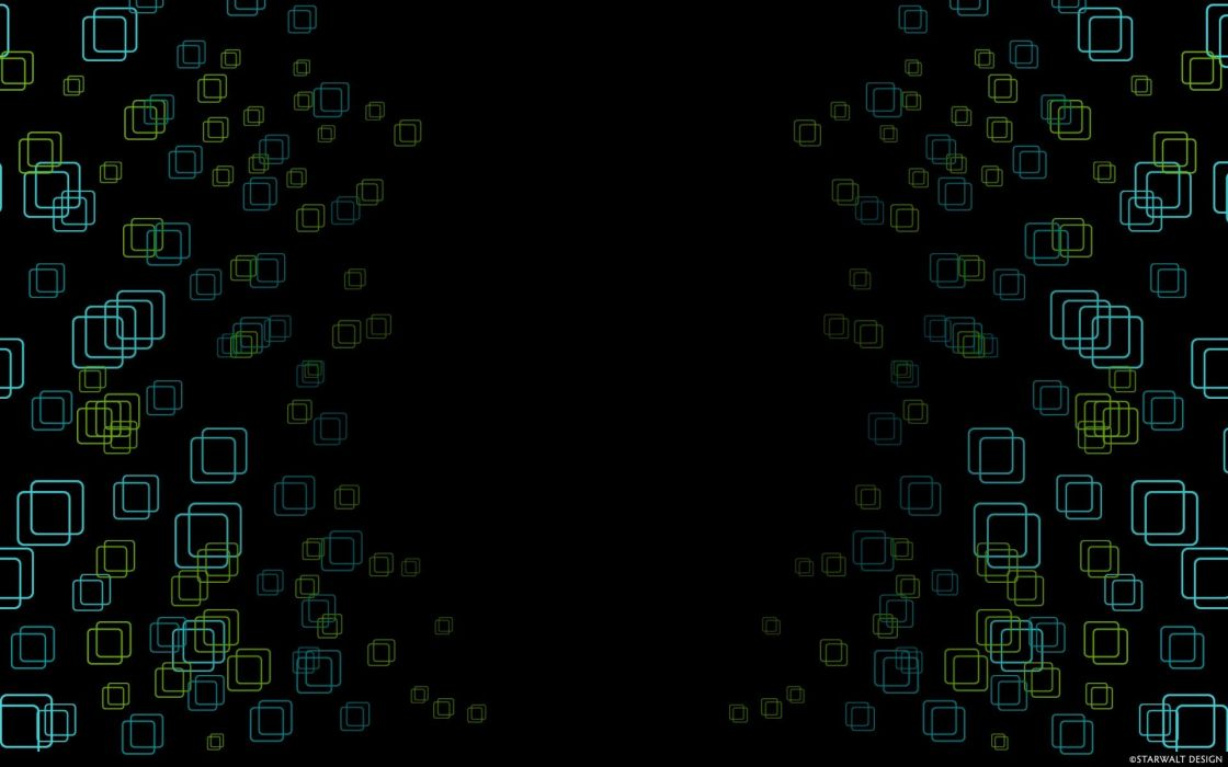 abstract shapes digital art squares black background wallpaper