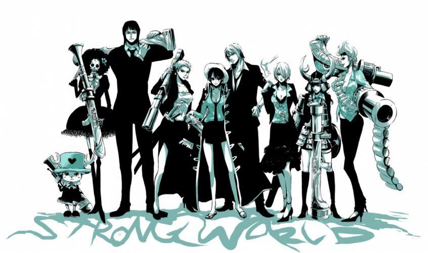 One Piece (anime) Nico Robin Roronoa Zoro anime genderswitch Franky (One Piece) Tony Tony Chopper Brook (One Piece) Monkey D Luffy Nami (One Piece) Usopp Sanji (One Piece) wallpaper