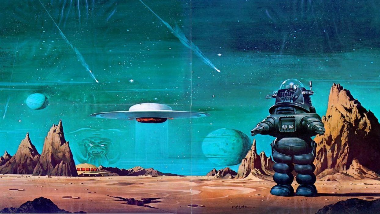science fiction artwork Forbidden Planet wallpaper