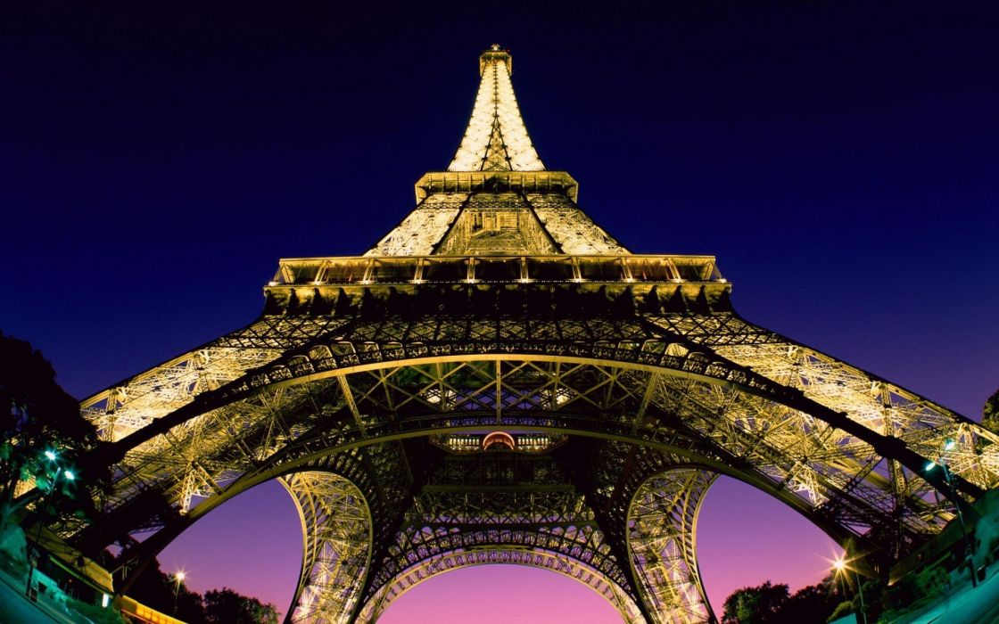 Eiffel Tower cityscapes night wallpaper