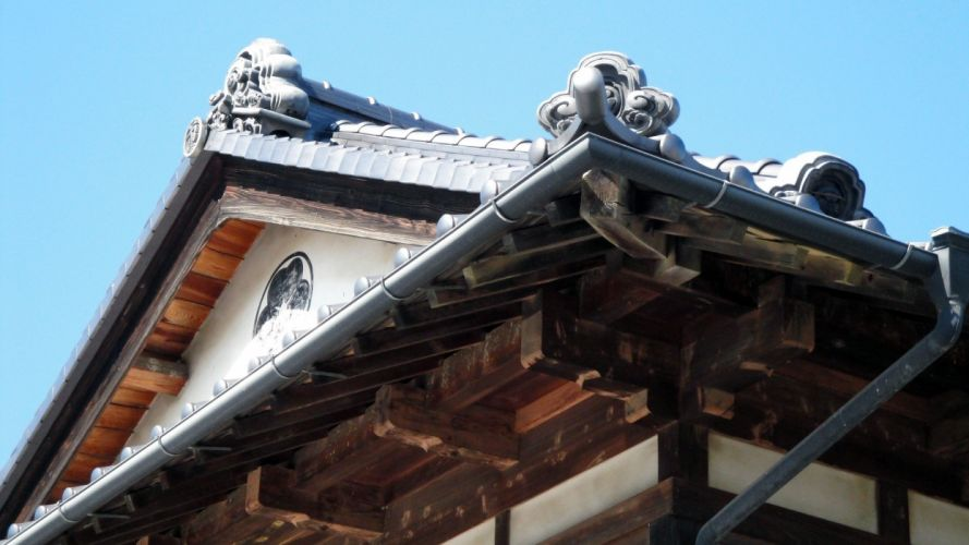 Japan buildings traditional roof wallpaper
