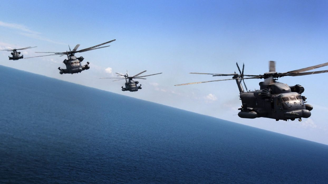 aircraft helicopters vehicles MH-53 Pave Low wallpaper