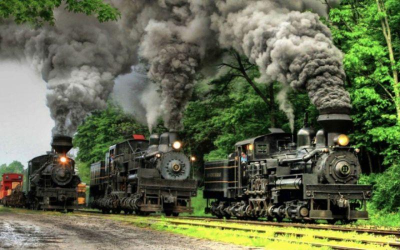 steam vintage trains wallpaper
