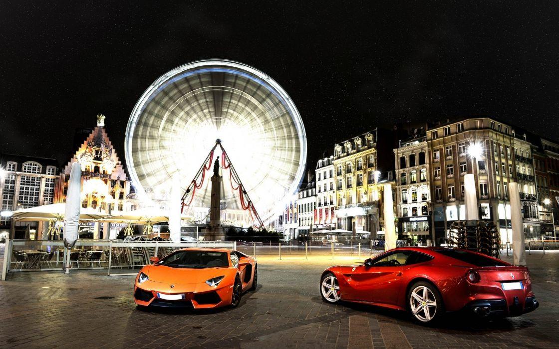 cars Lamborghini Ferrari wallpaper