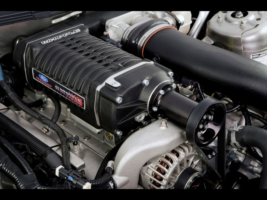 engines muscle cars vehicles Ford Mustang supercharged V8 engine supercharger wallpaper