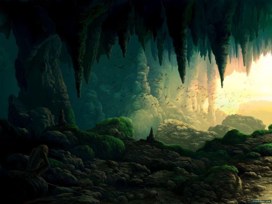 caves cavern wallpaper