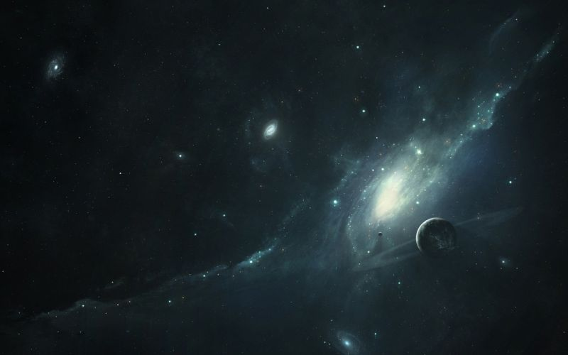 outer space artwork space wallpaper