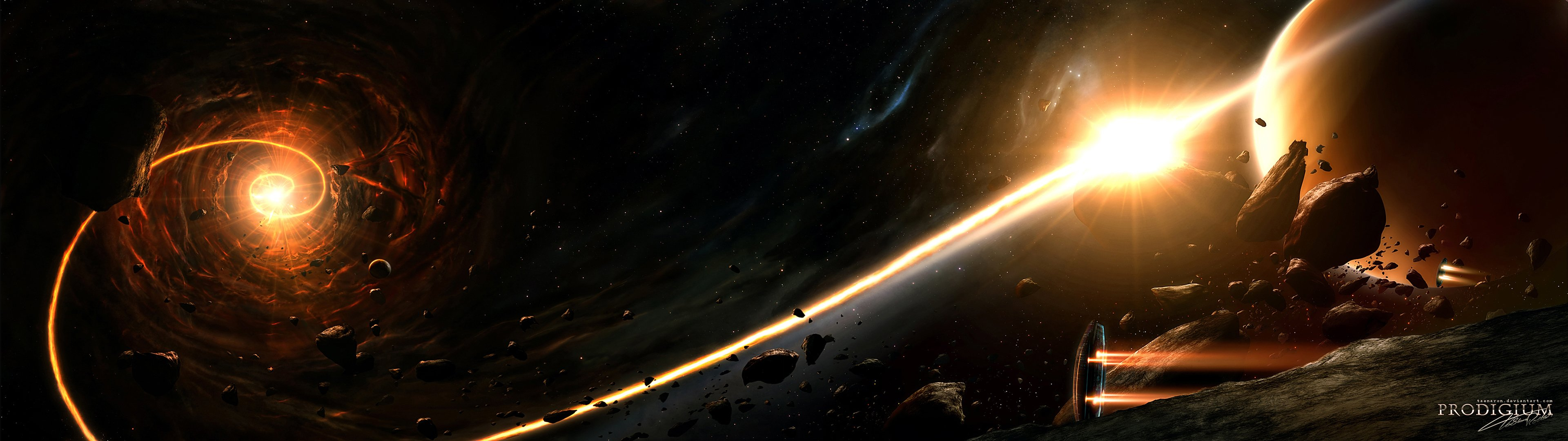 Space Wallpaper 3840x1080