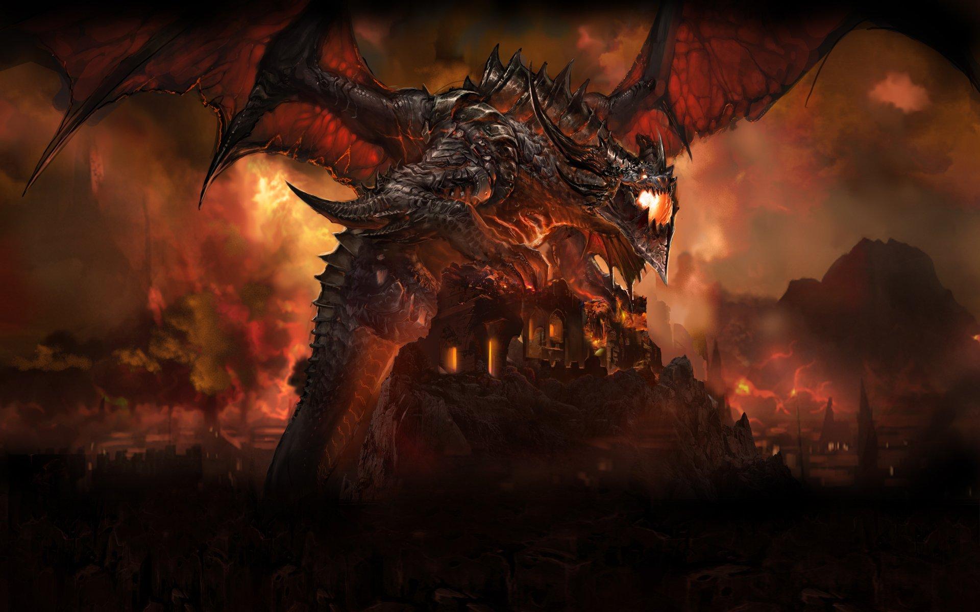 Dragons World Of Warcraft Destruction Deathwing Wallpaper