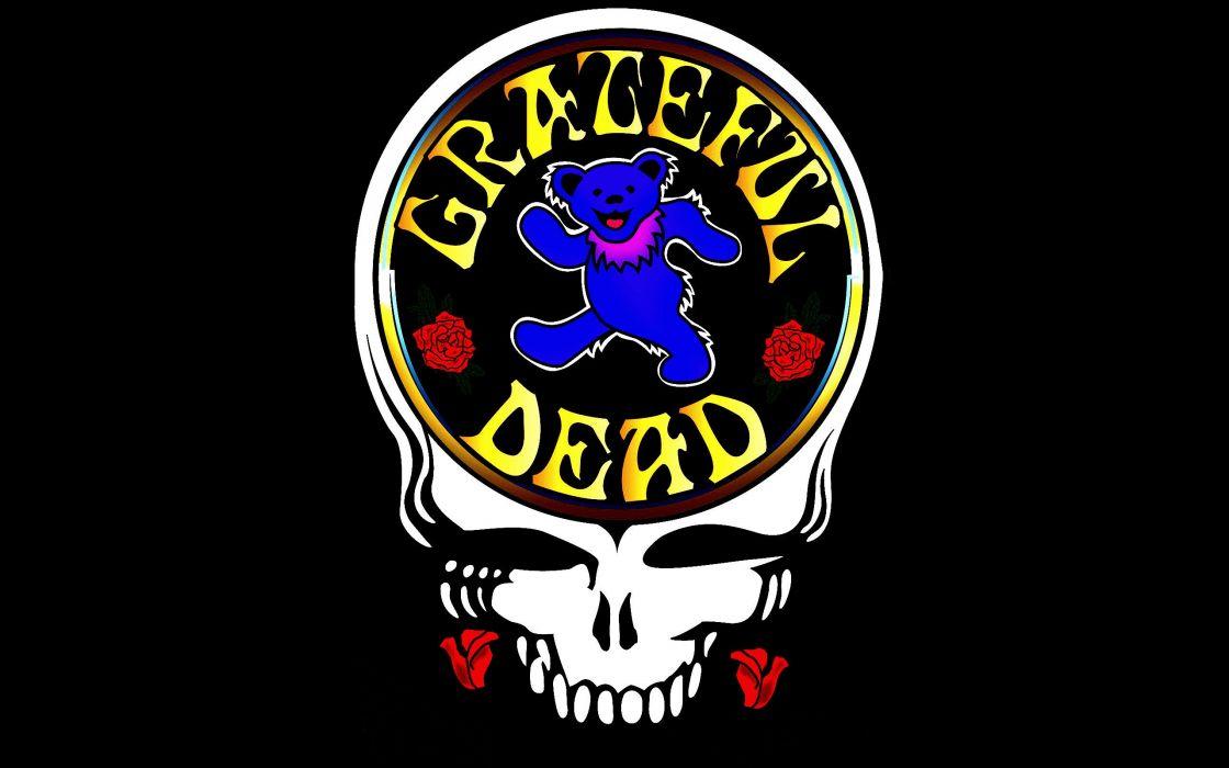 GRATEFUL DEAD classic rock hard skull dark wallpaper