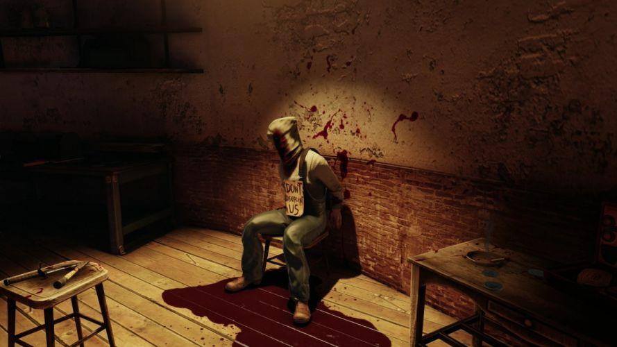 bioshock dark horror blood wallpaper
