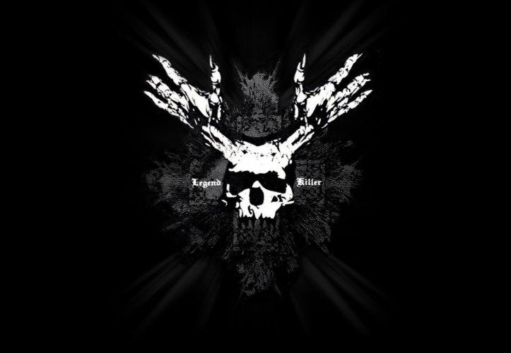 dark skull occult evil wallpaper