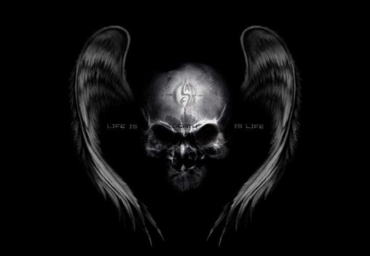 skull demon angel occult dark wallpaper